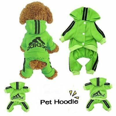 Clothes Hoodie Winter Pet Dog Cat Puppy Warm Sweater Coat Costume Apparel