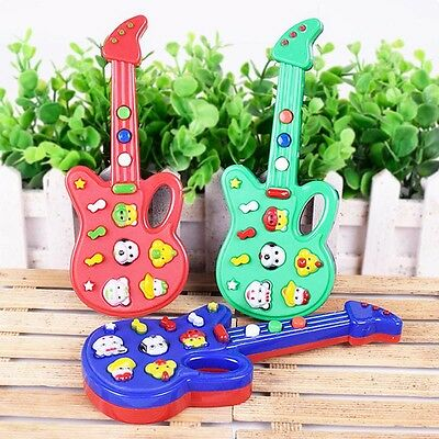 Baby Kids Cute Electronic Guitar Rhyme Developmental Music Sound Child Toy Gifts