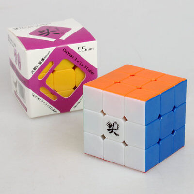 Dayan ZhanChi V5 3X3X3 Speed cube magic Puzzle Anti-POP for speed 55mm colorful