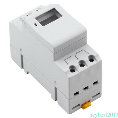 DIN Rail Digital LCD Power Programmable Timer Time Switch Relay AC 220-240V CF12
