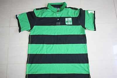 Canterbury Rugby World Cup Stripe Polo Shirt, L XL