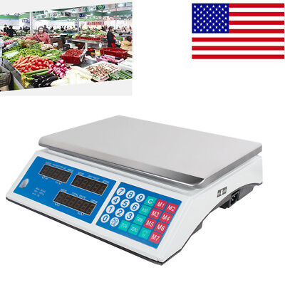 30KG Digital Weight Scale Price Computing Meat Fruit Produce Market Store Shop