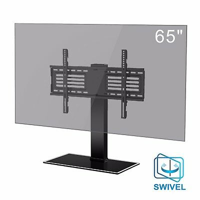 """Swivel Tabletop TV Stand/ Base With Adjustable Height for up to 65"""" Flat Panels"""