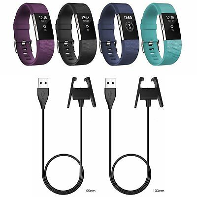 2017 Replacement USB Charging Cable Cord Accessories Charger For Fitbit Charge 2