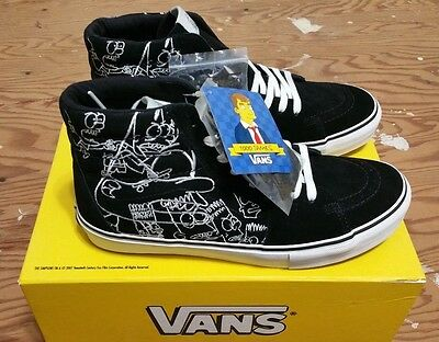 721f7d1bf4430f Vans X Simpsons X Todd James Size 11 NEW WITH BOX supreme hosoi wtaps  syndicate