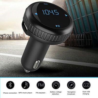 Bluetooth Car Kit Wireless FM Transmitter Charger USB Disk SD MP3 Player MIC
