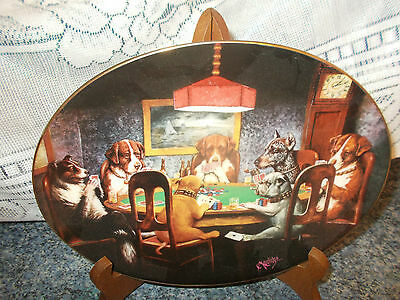 Sale !!!   Bar Collectors Plate  * An Ace In The Hole * Franklin Mint.