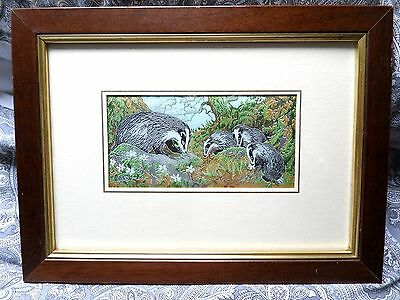 """Cash Cash's Badger & Young Woven Silk Picture 8 1/4"""" X 11"""""""