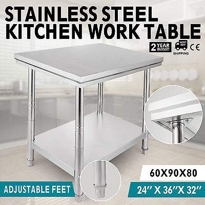 "24""x36"" Stainless Steel Kitchen Work Prep Table NSF Commercial Restaurant New"