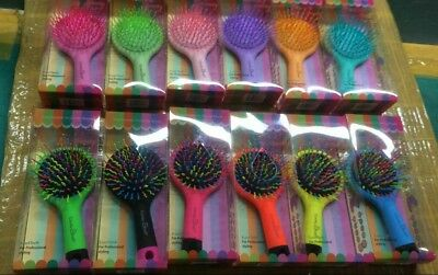job lot of 1000 hair brush candy rainbow  with mirror detangling hair RRP £5999