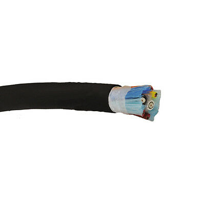 2000' Belden 1347A 20 AWG Beldfoil Shield Black Matte Security and Control Cable