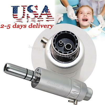 USA Dental Low Speed E-type Air Motor Micromotor 2 Holes Contra Angle Handpiece