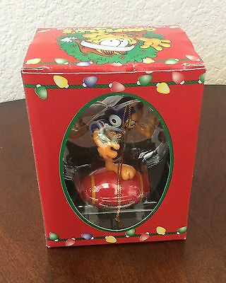 Garfield Christmas Ornament Vintage 1996 Football Trim A Tree Collectible