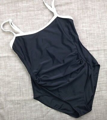 Women's Mamas & Papas Maternity Swimsuit Black White Size 14
