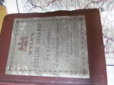 Rare Victorian Cycle Map 1888: James Wyld:south East England-Geographer To Queen