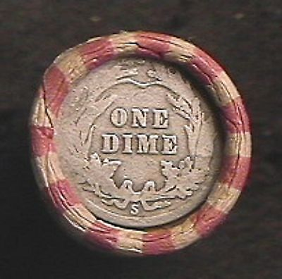 HALF ROLL 25 CENTS- MIX-INDIAN HEAD & WHEAT -1859 to 1958 MIXED & SILVER DIME