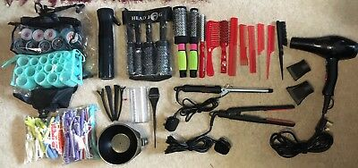 Hairdresser Hairdressing College Training Student Kit Rollers Brush Comb Dryer