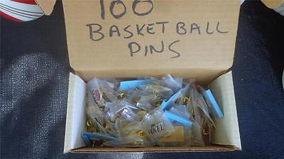 Huge Wholesale lot of 100 Old Assorted Hat Lapel Pins ALL NBA Basketball GTC