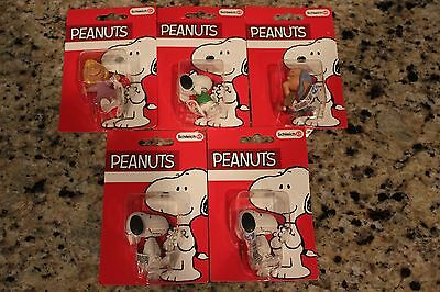 5 Schleich Peanuts Plastic PVC Figures New on Card Snoopy Sally Linus