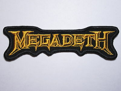 MEGADETH logo embroidered NEW patch thrash metal
