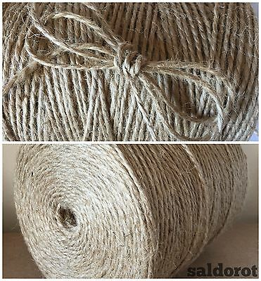 2-50 Metres ❁ Soft Natural Jute Sisal String Hessian Burlap Rustic Wedding Party