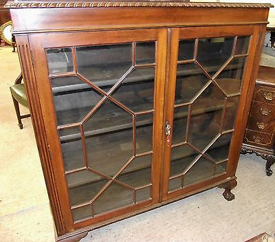 """ Mahogany Closed Bookcase "" Victorian 1880"
