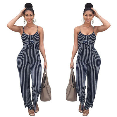 Women Ladies Clubwear  Sleeveless Playsuit Bodycon Party Jumpsuit Long Romper
