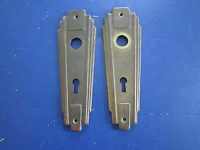 Antique Brass Art Nouveau DOOR KNOB BACK PLATES w/Escutcheon $19.99 & FREE SHIP