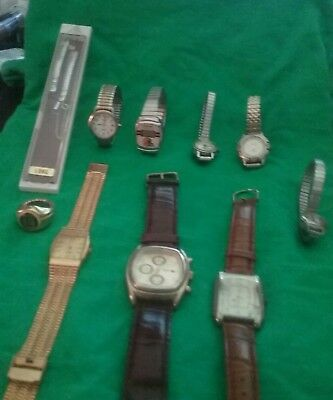 Watch  Mixed Lot Of 9,  Waltham, Timex, & More