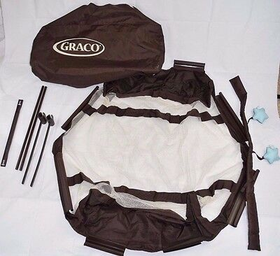Graco Pack N Play Replacement Bassinet Liner & Metal Bars Rods Poles Parts
