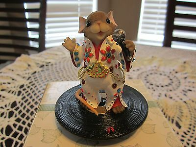 """Charming Tails """"Let's Rock And Roll"""" #98/1835  Fitz & Floyd 2005 Mackenzie Elvis"""