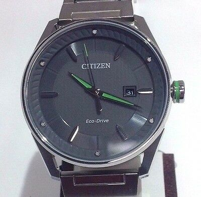 Citizen Men S Silver And Green Watch Model E111 S108713 Nwt