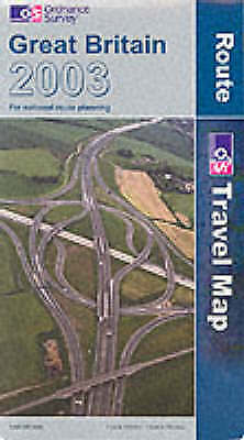Great Britain Route Map 2003 (Travel Map), Ordnance Survey, Used; Good Book