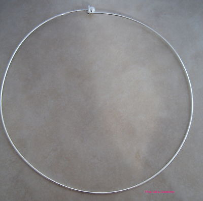 4 silver plated neckwire choker necklace base