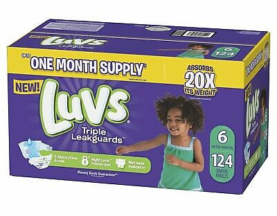 ***NEW*** Luvs Ultra Leakguards Diapers, Size 6, 112 Count ***FREE SHIPPING***