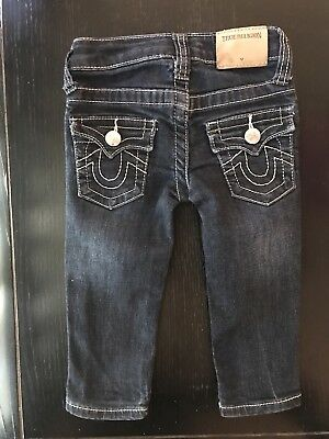 True Religion Toddler Dark Denim Jeans Size 12 month