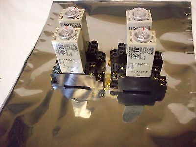 Omron DC 12V H3Y-2 Delay Timer Time Relay 0-60M Minute 12VDC  Base Socket  Lot 4