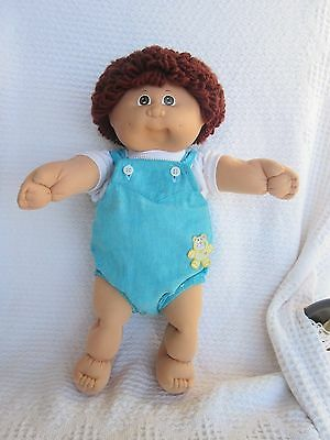 Vintage Cabbage Patch Doll Paci Red Auburn Hair/Brown Eyes & Outfit