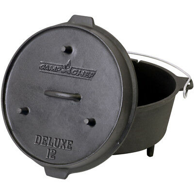Camp Chef Deluxe Dutch Oven DO-12 | Gusseisen Gusstopf Bräter