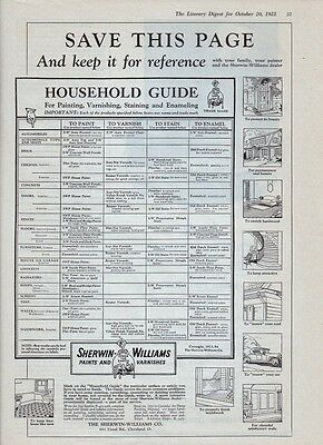 1923 9x12 Sherwin Williams Reference Page ad