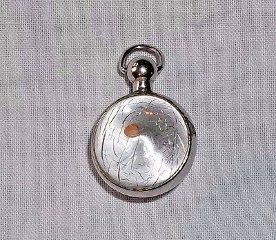 Vintage MUSTARD SEED of FAITH Lucite Crackle Bubble Charm - Matthew 17:20