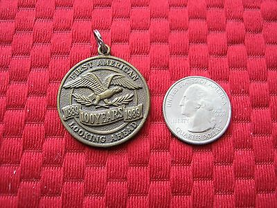 First American Looking Ahead 100 Years Brass Medallion ~ 1889 - 1989