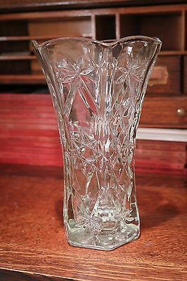 EAPG Antique Pressed Glass Crystal? Vase  - Beautiful!