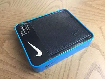 Wallet  Bifold Nike Golf Men's Genuine Black Leather Credit Card Passcase