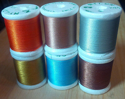 Gudebrod Nylon Thread, Vintage, Size D, 50 yards, Various Colors