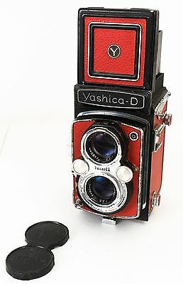 Yashica D TLR 6x6 120 Camera ~ Film Tested!!! New Leather Covering