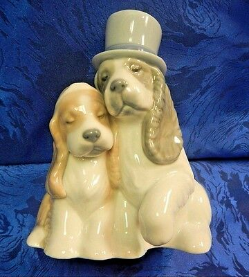 Together Forever Wedding Dogs Flowers Top Hat Porcelain Nao By Lladro   #1480
