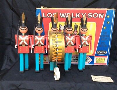 Vintage Los Walky-Son, Mechanical Walking Drill Team WORKING In Original Box