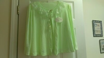 Vintage lime sherbet Bed jacket new with tags by miss Elaine.