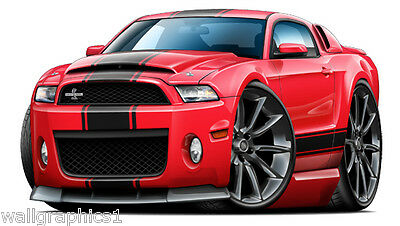 Ford Mustang Shelby Cobra Supersnake Wall Graphic Decal Poster Cling Man Cave